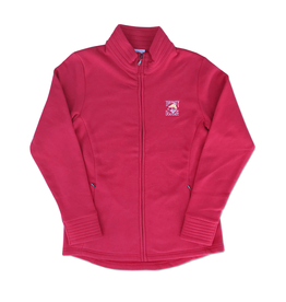 Outerwear Women's Fleece Full Zip Up in Raspberry.