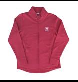 Outerwear Women's Fleece Full Zip Up in Raspberry.