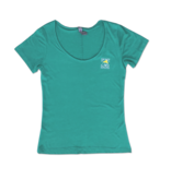 Hanes Women's Triblend Scoop Neck in Heather Jade