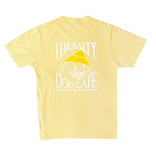 T-Shirt Garment Dyed Short Sleeve in Yellow