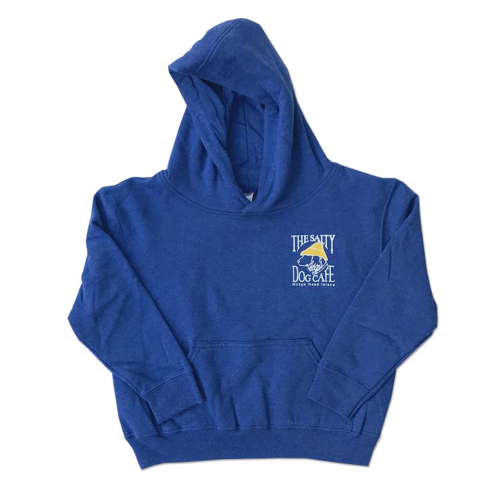 Sweatshirt Youth Hooded Pullover Vintage Royal