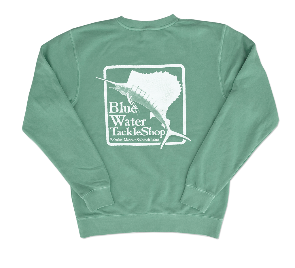 Bluewater Blue Water Bohicket Sweatshirt in Mint