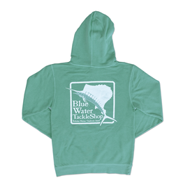 Sweatshirt Blue Water Bohicket Hooded Sweatshirt in Mint