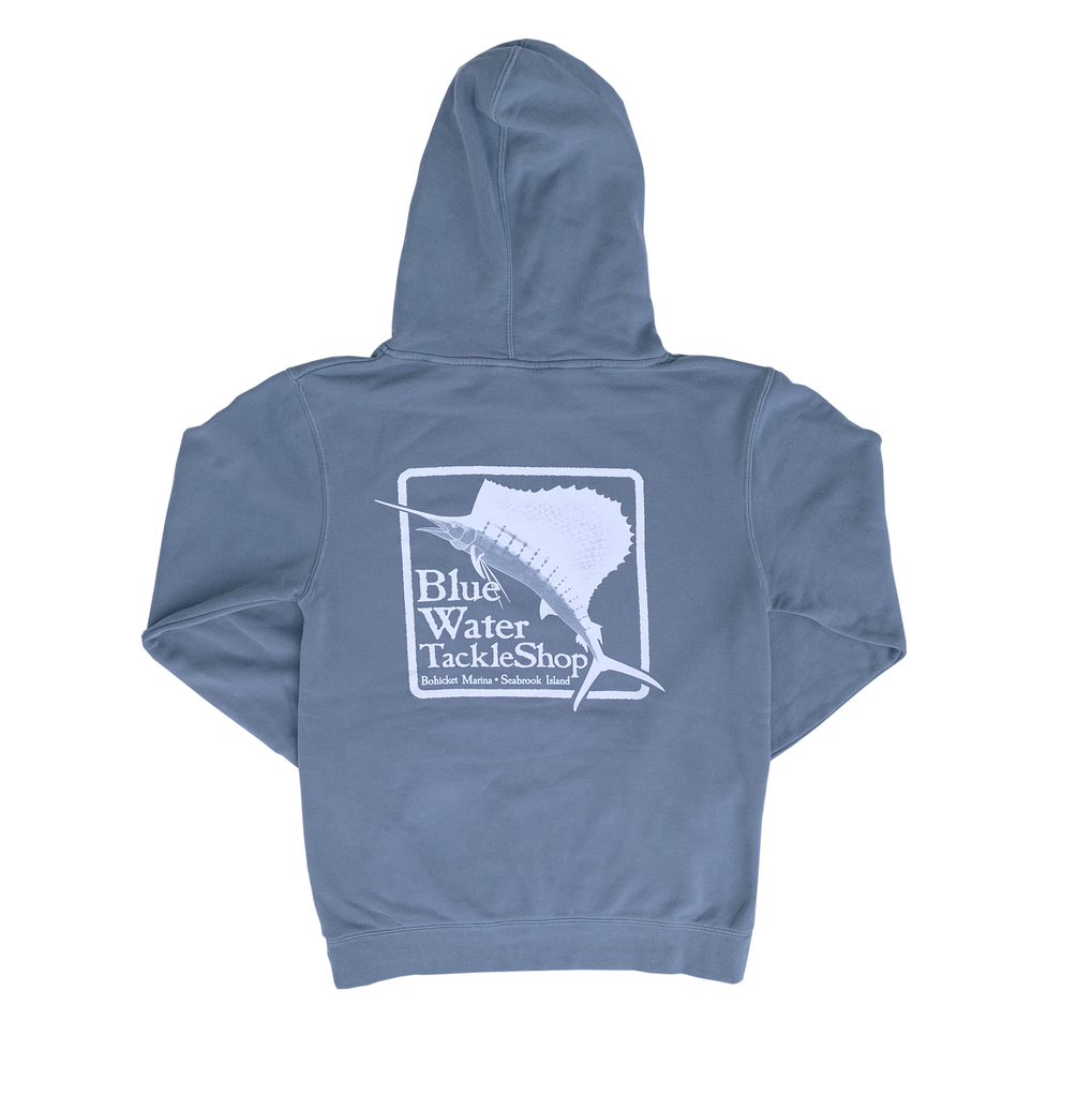 Sweatshirt Blue Water Bohicket Hooded Sweatshirt in Slate