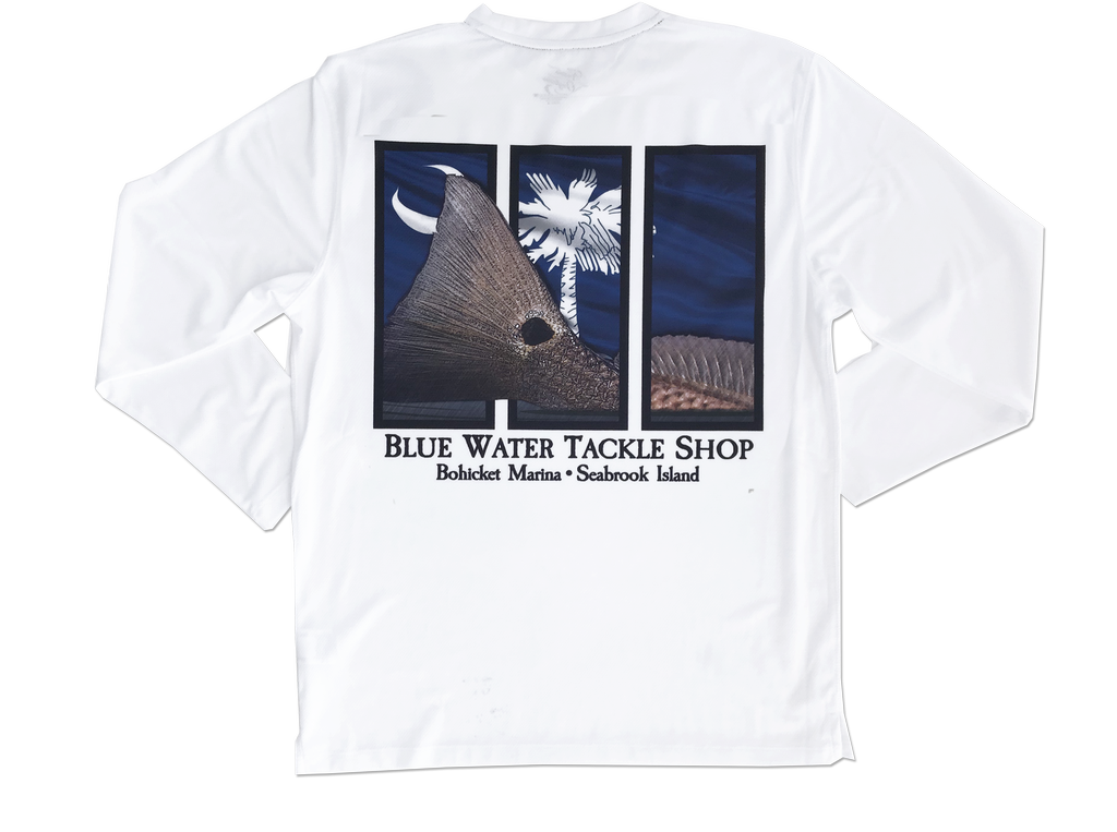 Bluewater Blue Water Bohicket SC Redfish Performance Tee