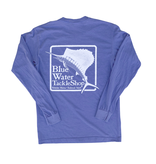 Bluewater Blue Water Bohicket Long Sleeve in Flo Blue
