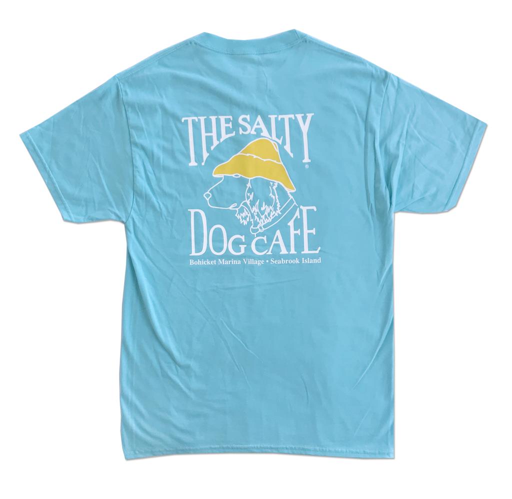 T-Shirt Bohicket Hanes Beefy Short Sleeve in Blue Horizon