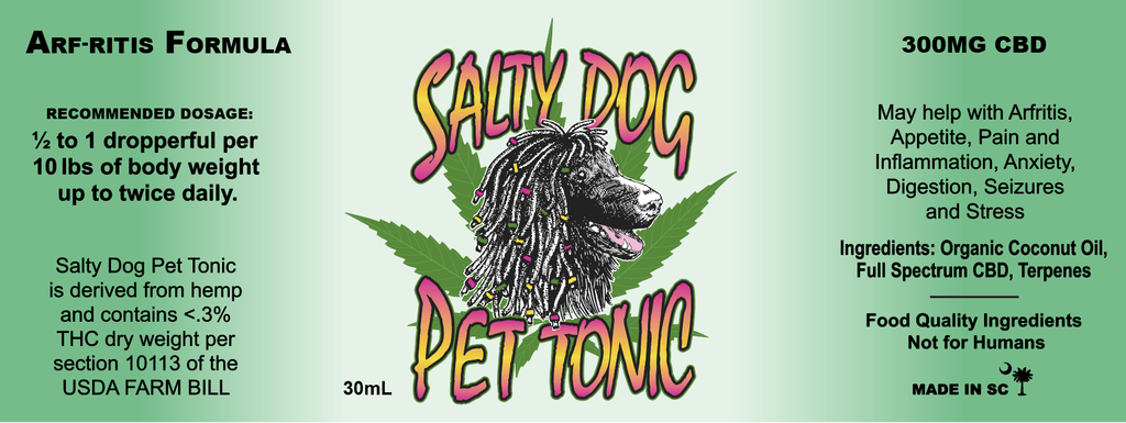Product Salty Dog CBD Pet Tonic