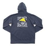 Comfort Colors Stonewash Hooded Sweatshirt in Navy