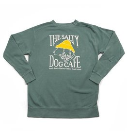 Comfort Colors Stonewash Sweatshirt in Light Green