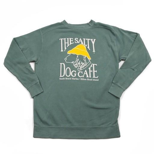 Comfort Colors Stonewash Sweatshirt in Light Green