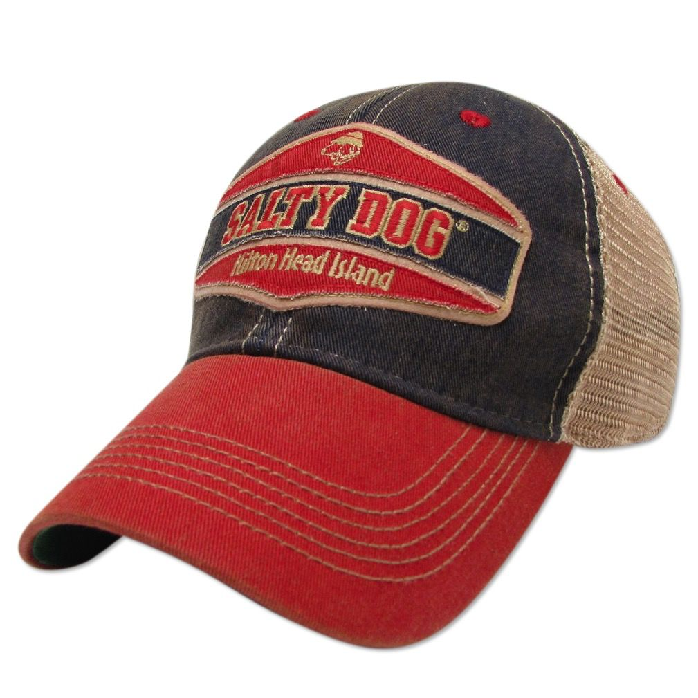 Legacy Old Favorite Trucker Hat in Navy Scarlet - The Salty Dog Inc 61e85a4533a