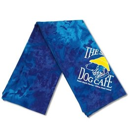 Salty Dog Blue Tie Dye Large Bandana