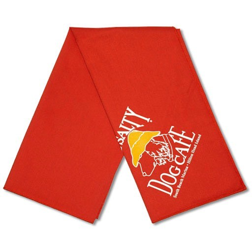 Salty Dog Orange Large Bandana