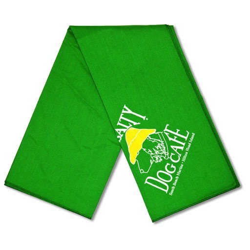 Salty Dog Green Small Bandana