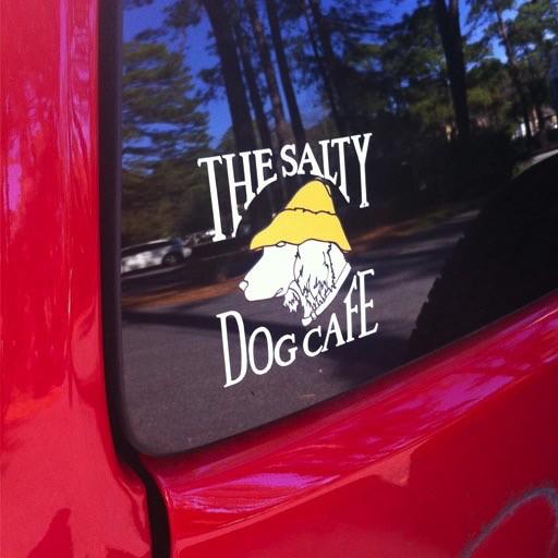 Salty Dog Vinyl Logo Sticker The Salty Dog Inc