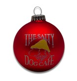 Salty Dog Christmas Ornament in Red