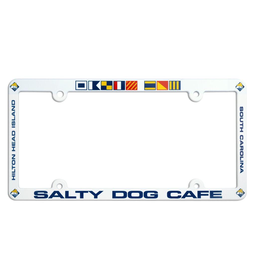 Salty Dog License Plate Frame