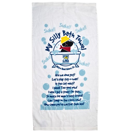 Salty Dog Silly Bath Towel