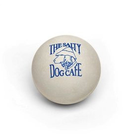 Salty Dog Rubber Ball in White