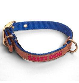 Salty Dog Royal Blue Leather Collar
