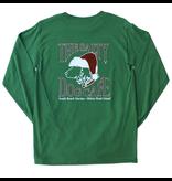 AlStyle Santa Dog Green Adult Long Sleeve Tee