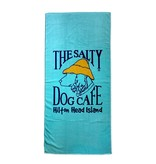 Salty Dog Beach Towel Woven in Ocean Blue