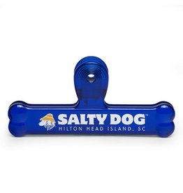 Salty Dog Bone Bag Clip in Blue