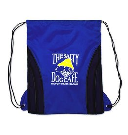 Salty Dog Drawstring Bag in Royal