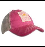 Legacy Youth Old Favorite Trucker Hat in Dark Pink