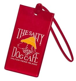 Salty Dog Luggage Tag in Red