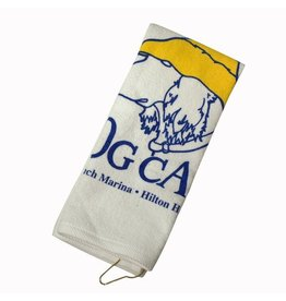 Salty Dog Printed Golf Towel in White