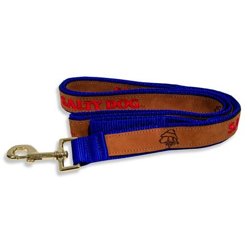 Salty Dog Leather Leash in Royal