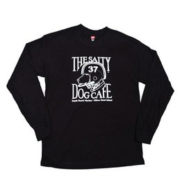 Hanes Youth Football Dog Long Sleeve Tee in Black