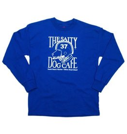Hanes Youth Football Dog Long Sleeve Tee in Royal