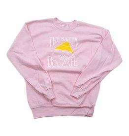 Hanes Youth Crew Neck Sweatshirt in Pale Pink