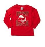 LAT Apparel Youth Santa Dog Long Sleeve Tee