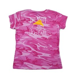 Code V Women's Short Sleeve Pink Camo