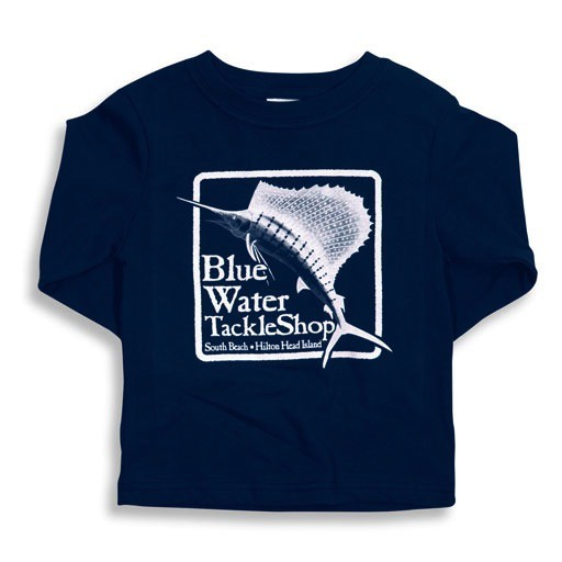 LAT Apparel Blue Water Youth Long Sleeve in Navy
