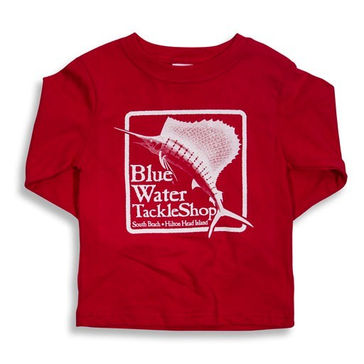 LAT Apparel Blue Water Youth Long Sleeve in Red