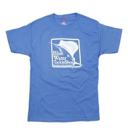 Hanes Blue Water Youth Short Sleeve in Carolina Blue