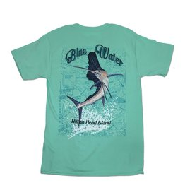 Hanes Blue Water Sailfish Chart in Clean Mint