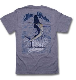 Hanes Blue Water Sailfish Chart in Light Steel