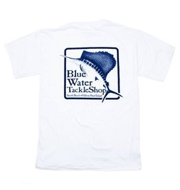 Hanes Blue Water Short Sleeve in White