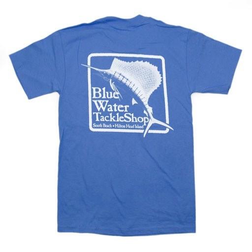 Hanes Blue Water Short Sleeve in Carolina Blue