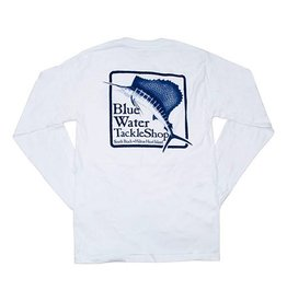 Hanes Blue Water Long Sleeve in White
