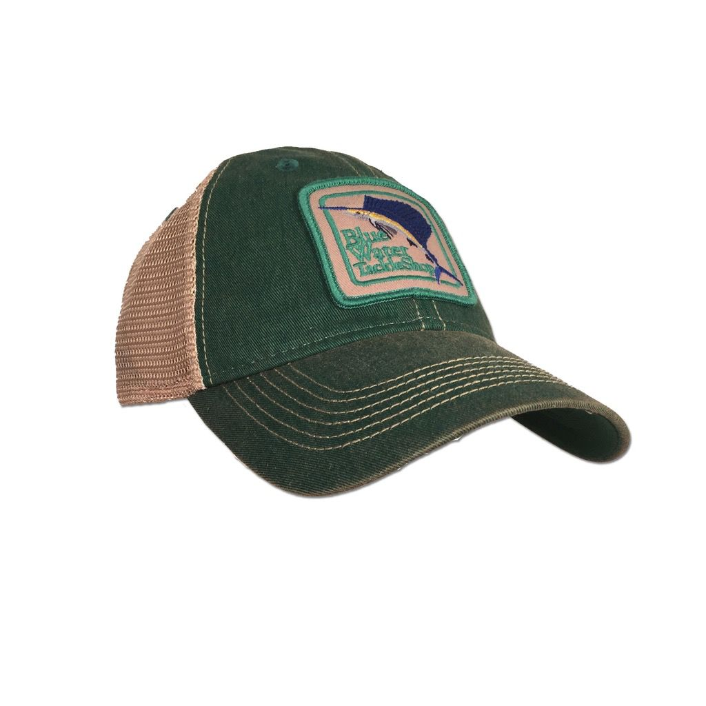 f61969a95c50f Legacy Blue Water Old Favorite Trucker in Kelly Green - The Salty ...
