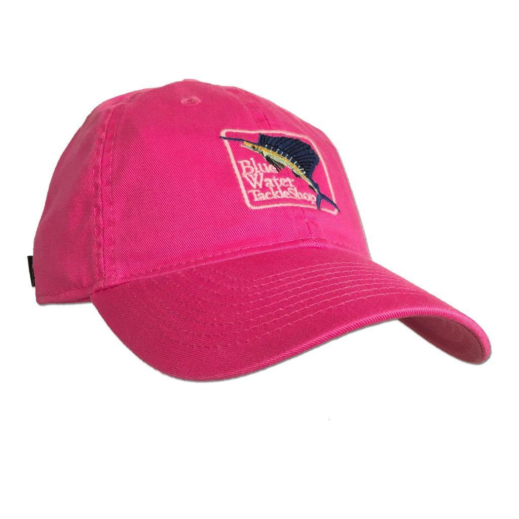 Legacy Women's Blue Water Twill Hat in Dark Pink