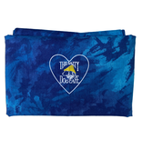 Specialty Items Cotton Face Cover in Blue Tie Dye