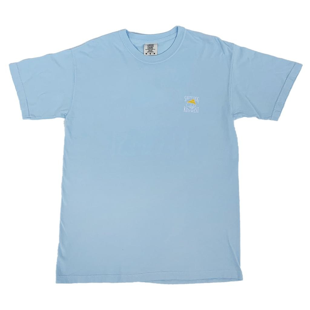 T-Shirt Key West Comfort Colors Short Sleeve in Chambray